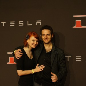 Judd & I at the Tesla event. I was so excited I could barely handle it.